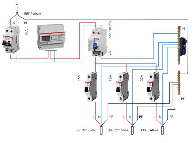 Как подключить селективное УЗО: устройство, где и зачем применяют + схема монтажа