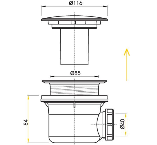 Слив для душевой кабины: обзор конструкций и правил их монтажа