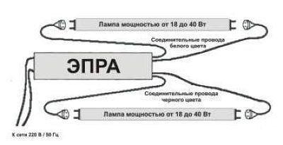 Что такое ЭПРА для люминесцентных ламп: как работает + схемы подключения