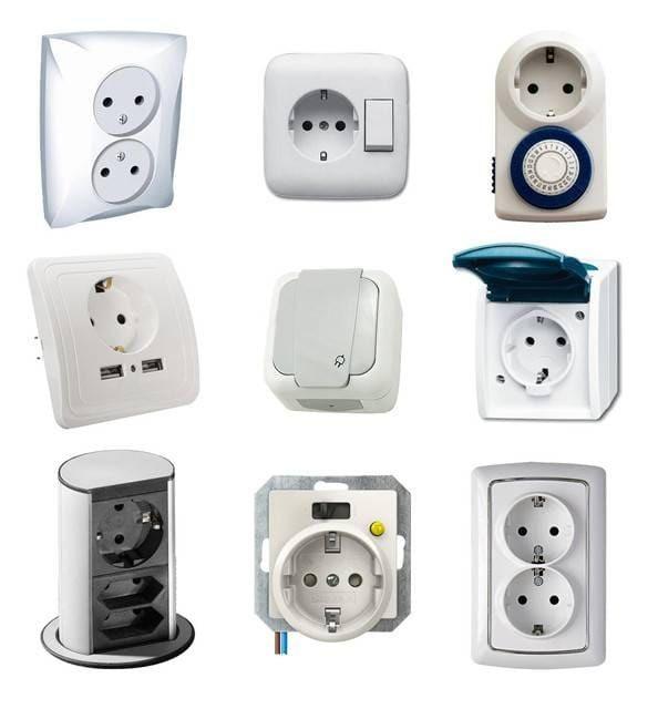 Виды электрических розеток и выключателей: какие бывают и как выбрать