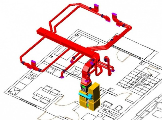 Воздушное отопление загородного дома: система для коттеджа