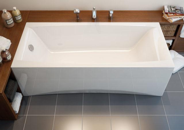 Стандартные размеры ванн: типовые габариты акриловых и чугунных чаш