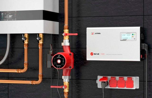 Выбор стабилизатора напряжения для газового котла отопления