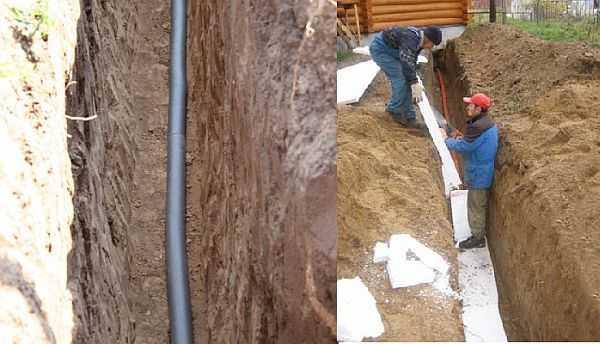 Утепление водопровода в земле: как защитить наружную часть труб
