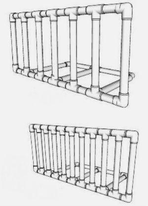 Вешалка из труб ПВХ: пошаговый инструктаж по изготовлению своими руками