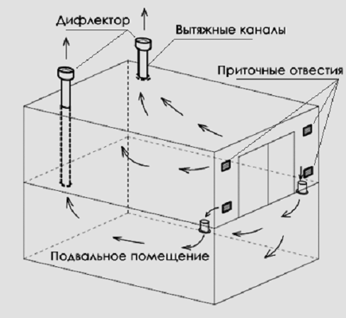 Вытяжка в гараже: виды вытяжки и вентиляции бокса с погребом