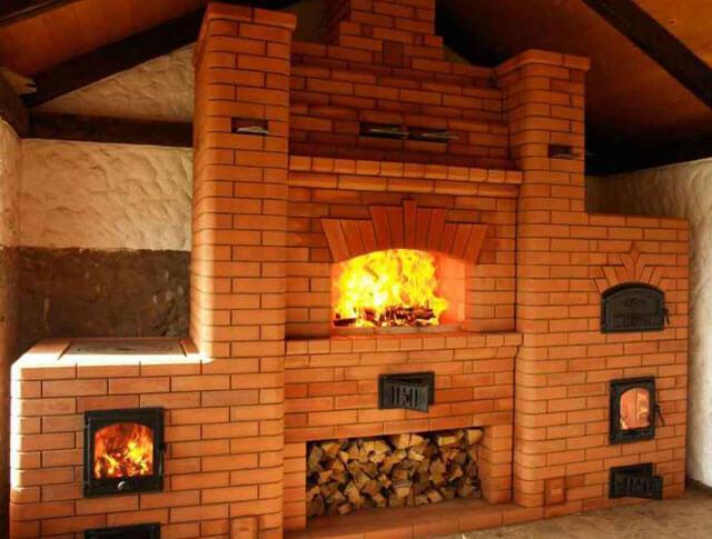 Виды печей из кирпича для дома: полная классификация с примерами