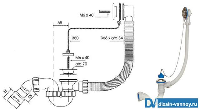 Рекомендации по монтажу обвязки автомата и полуавтомата для ванны