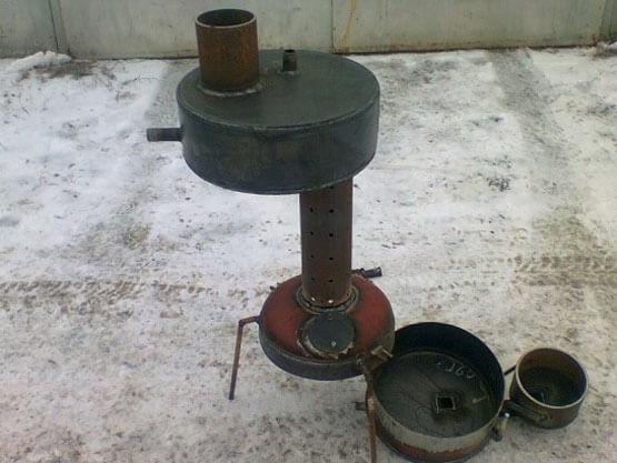 Печь на отработке из трубы: как сделать эффективную печку на отработанном масле из подручных материалов