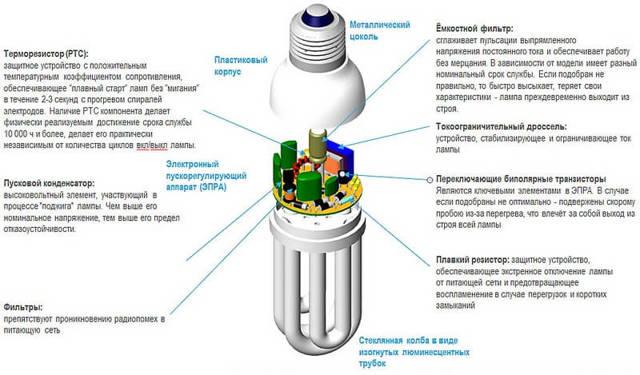 Какими бывают компактные люминесцентные лампы + лучшие производители