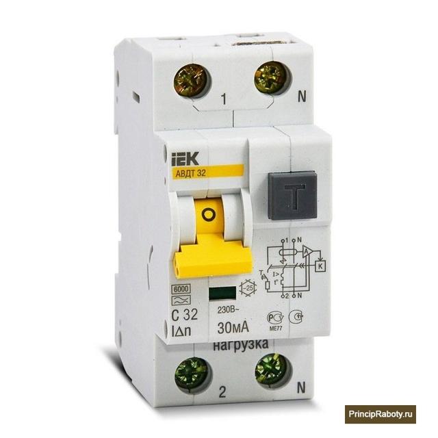 Принцип работы дифференциального автоматического выключателя