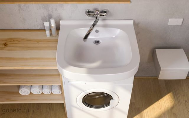 Раковина кувшинка: как выбрать и провести установку над стиральной машиной
