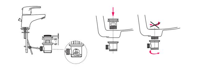 Донный клапан: предназначение, устройство + инструктаж по замене