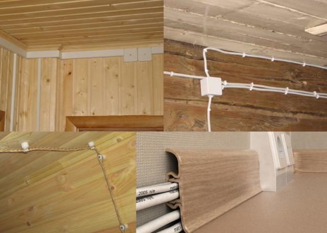 Электропроводка в деревянном доме: правила проектирования + инструктаж по монтажу