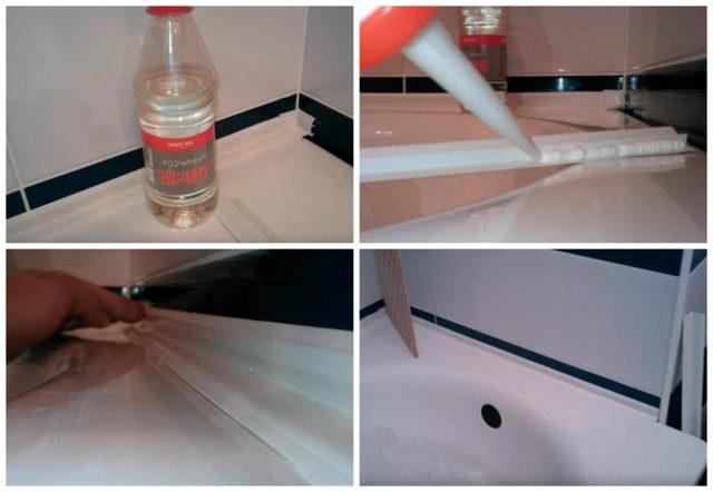 Как заделать стык между ванной и стеной: заделка зазора рядом с чашей