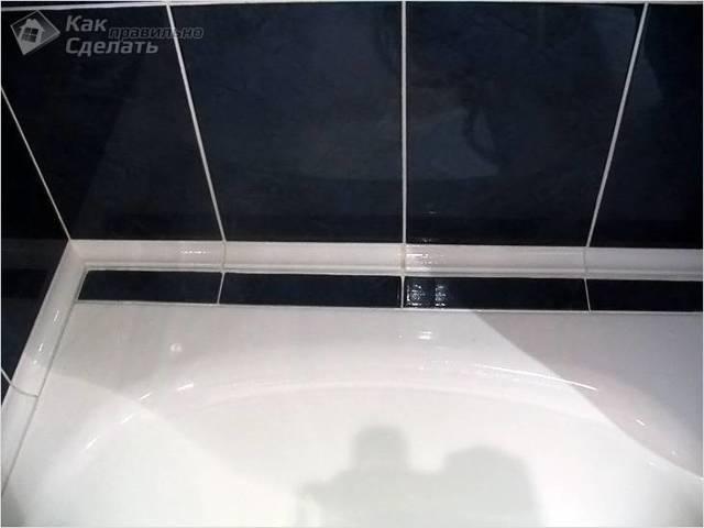 Как приклеить бордюр на ванну: варианты укладки и технологии