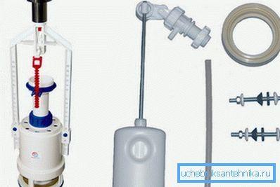 Клапан для унитаза: запорное и впускное устройство для бачка