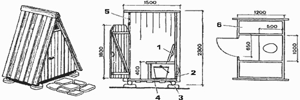 Проект дачного туалета с душем: схемы, примеры, правила возведения