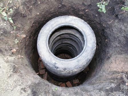 Сливная яма из покрышек cвоими руками: руководство по возведению
